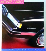 1987 Chevrolet MONTE CARLO sales brochure catal... - $9.00