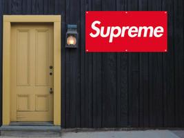 Supreme Logo Vinyl Banner 2'x4' 13 OZ. Garage Skater Ready to Hang image 1