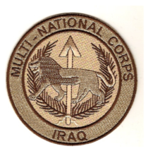 """4.25"""" COMBINED FORCES MULTI NATIONAL CORPS IRAQ DESERT EMBROIDERED PATCH - $23.74"""