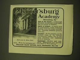 1918 Mercersburg Academy Ad - Entrance to Main Hall - $14.99