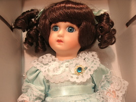 "Treasures From The Past Collectible Porcelain Doll 10"" with Original Box    - $29.99"