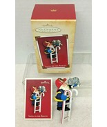 2004 Santa to the Rescue Hallmark Christmas Tree Ornament MIB w Price Tag - $13.37