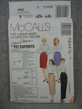 Skirt in 4 lengths  with waist variations  Easy  Misses 14 McCalls 7244 ... - $6.00