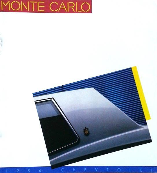 1986 Chevrolet MONTE CARLO sales brochure catalog SS 86 Chevy