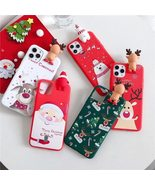 Cute 3D Doll Cartoon Christmas Santa Reindeer Tree soft Phone Case for iphone 11 - $4.00