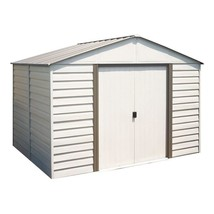 Storage Shed Vinyl Coated Steel Building 10 x 8 Lockable Door Outdoor Ga... - $843.85
