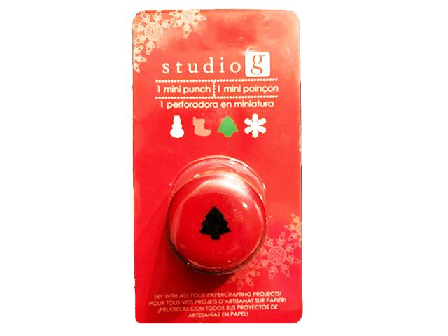 Hampton Art Studio G Mini Christmas Tree Punch #VPU0004