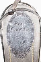Leather Gray SZ Heels Caovilla Embellished 39 Toe Rene Open Metallic Multicolor 7PfqBw