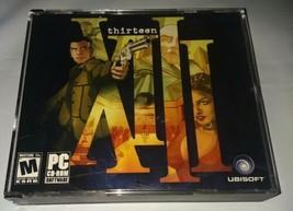 PC Video Game Thirteen XIII 4-disc Ubisoft Thriller game graphic novel s... - $9.41