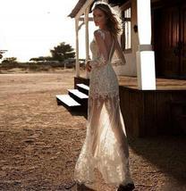 New 2 In 1 Long Sleeve Illusion With Detachable Train Fashion European Mermaid W image 3