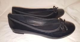 Saks Fifth Avenue Black Patent Leather Ballet Flats Size 8M  - $23.10