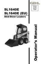 New GEHL SL1640E Skid Steer Loader Owners Operators Manual 917388 Bound ... - $34.90