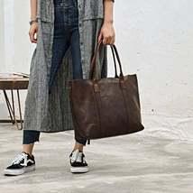 On Sale, Handmade Women Tote Bag, Full Grain Leather Shoulder Bag image 2