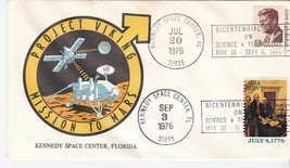 PROJECT VIKING MISSION TO MARS DOUBLE CANCEL KENNEDY SPACE CENTER 1976  - $1.98