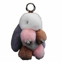 Fur Bunny Keychain Pendant Rex Rabbits Hair Bag Automobile Holder Jewelr... - $24.63