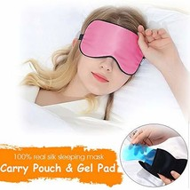 KingLeChange Natural Silk Sleeping Mask Hot/Cold, includes Travel Pouch,... - €18,17 EUR