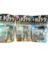 """""""KISS"""" figurines in Pkg. Ace, Paul, Peter packaging has damage...see pho... - $46.42"""