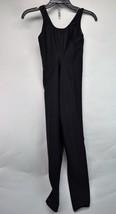 Vintage Rainbeau Womens Medium Black Bodywear Unitard Leotard (C6) - $21.49