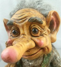 Old Man Vintage Troll w/ Real Hair & Tail! Original NORD Suvenir Verdal ... - $127.49