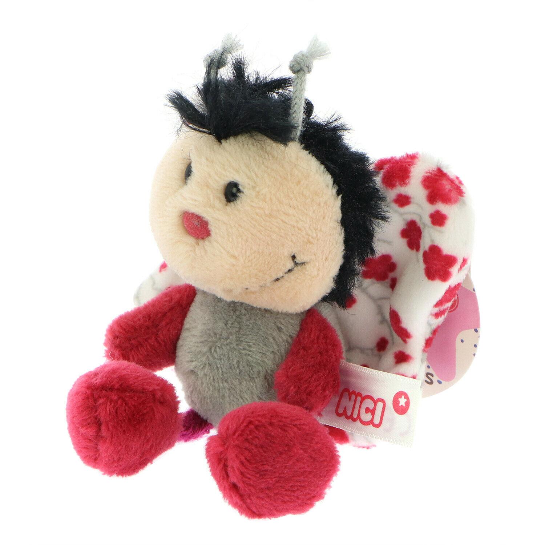 NICI Butterfly Pink Stuffed Animal Plush Beanbag Key Chain 4 inches - $11.99