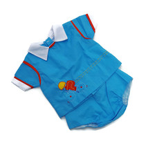 Vintage Baby Boy Diaper Shirt Pants Outfit Blue Bicycle 80s Mayfair 9 month - $24.70