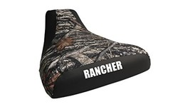 Honda Rancher Seat Cover Camo And Black Color Rancher Logo Year 2004 To ... - $42.99