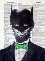 Art N Wordz I Am Lincoln Batman Original Dictionary Sheet Pop Art Print ... - $24.99