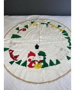 Vintage Handmade Christmas Tree Skirt Holiday - $98.99