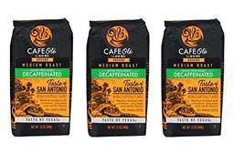 Cafe Ole Taste of Texas San Antonio Ground DECAF Coffee 12 oz. (Pack of 3) - $37.59