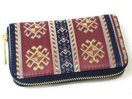 Authentic Tapestry Woman Wallet  with woven tapestry and faux leather (H... - $8.99