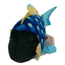 Ganz Webkinz Lil Kins Blue Triggerfish Plush Stuffed Animal HS526 No Cod... - $11.88