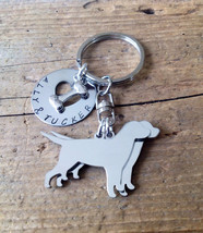 Two Labrador Retrievers Custom Keychain Dog Lover - $24.00