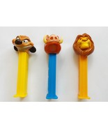 PEZ Disney's Lion King original release 2004 set of 3 loose dispensers r... - $9.50
