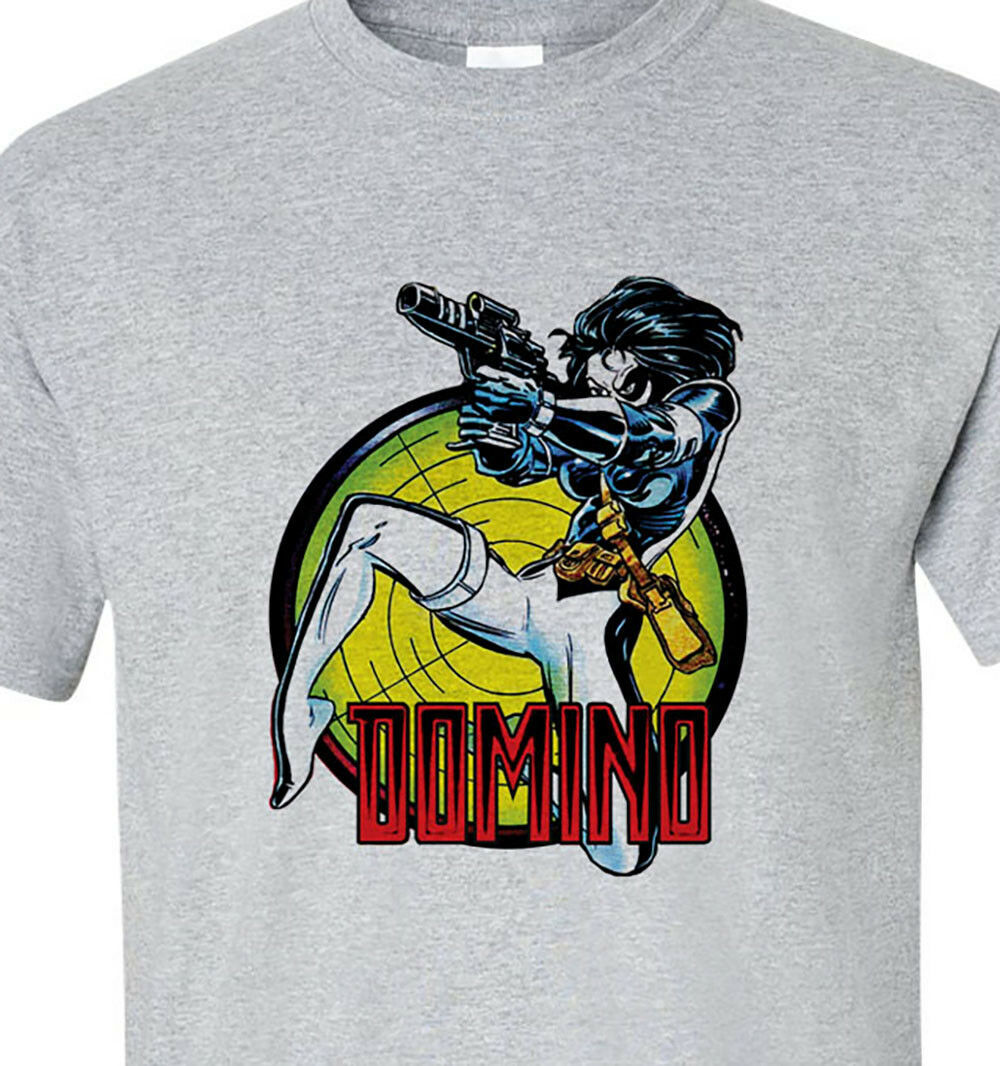 Domino t-shirt marvel X Force retro comics graphic tee cotton blend graphic tee