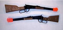 2 WESTERN LEVER RIFLE cowboy fun guns toy CAP gun NEW die cast vintage s... - $6.64