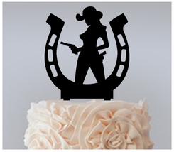 Wedding,Birthday Cake topper,Cupcake topper, sexy cowgirl horseshoe : 11 pcs - $20.00