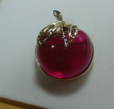 Vintage Signed Sarah Coventry Jelly Belly Cherry Brooch - $23.76
