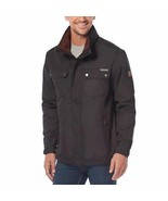 Rugged Elements Mens Jacket Black Trek Internal Hood Adjustable Hem Cuffs - $54.99