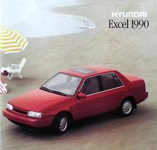 1990 Hyundai EXCEL sales brochure catalog US 90 GL GS GLS - $6.00