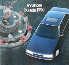 1990 Hyundai SONATA sales brochure catalog US 90 GLS - $6.00