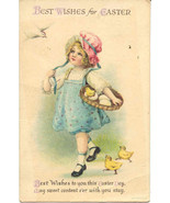 Best Easter Wishes Clapsaddle Vintage 1920 Post Card - $7.00