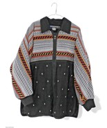Vtg I.B Diffusion Jacket & Matching Embroidered   Sweater Oversized 1980... - $65.53