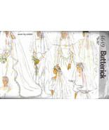 Butterick 4649 Pattern wedding Veil bridal headgear long short headdress - $7.77