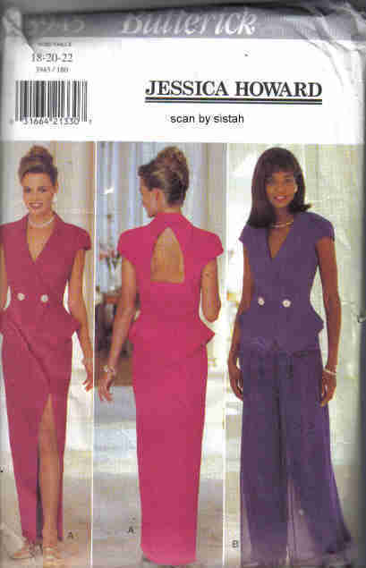 Butterick 3945 Jessica Howard Pattern 18 20 22 Top Skirt Pants dress formal suit
