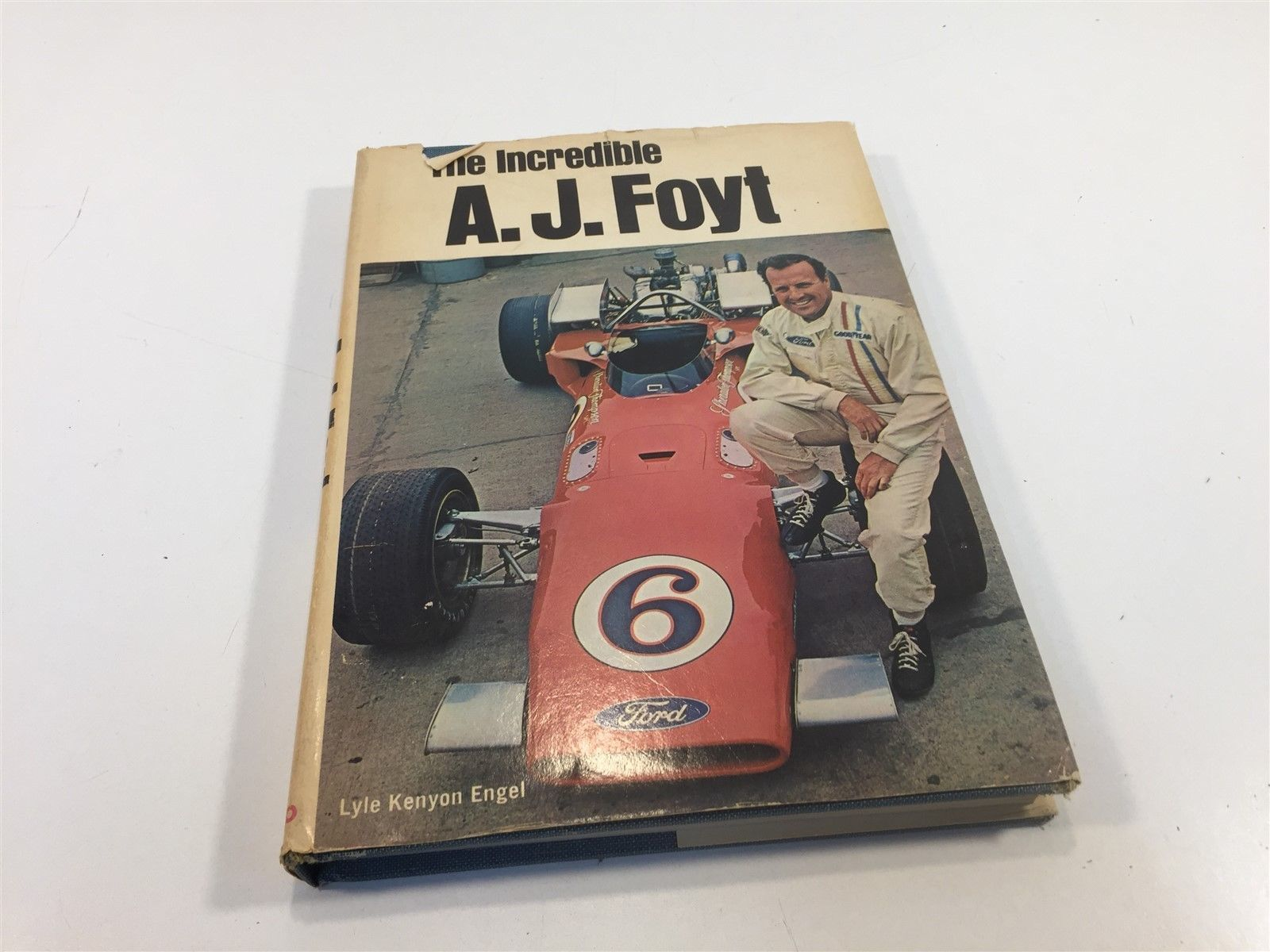 The Incredible A.J. Foyt by Lyle Kenyon Engel HC/DJ 1970 Signed?