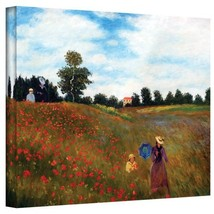 ArtWall Red Poppies at Argenteuil Gallery Wrapped Canvas by Claude Monet... - $75.50