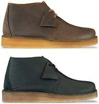 Clarks Originals Desert Trek Hi Boot Men's Black/Brown Leather - €109,56 EUR+