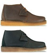 Clarks Originals Desert Trek Hi Boot Men's Black/Brown Leather - £95.98 GBP+