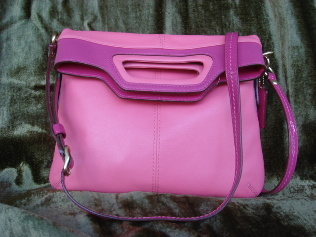 Coach Bonnie Leather Foldover 13388 $378++