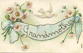 My Love to Grandmother Vintage Post Card - $6.00